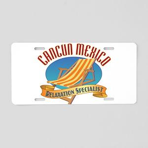 Cancun Relax - Aluminum License Plate