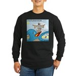 Moses Showing Off Long Sleeve Dark T-Shirt