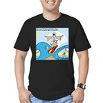 Moses Showing Off Men's Fitted T-Shirt (dark)