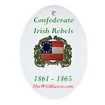 Confederate Irish Oval Ornament