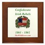 Confederate Irish Framed Tile