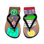 Hippie Funeral Flip Flops