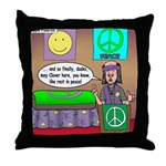 Hippie Funeral Throw Pillow