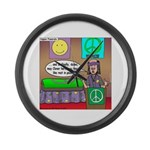 Hippie Funeral Large Wall Clock