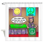 Hippie Funeral Shower Curtain
