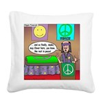 Hippie Funeral Square Canvas Pillow