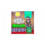 Hippie Funeral 35x21 Wall Decal