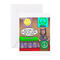 Hippie Funeral Greeting Cards (Pk of 20)