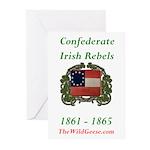 Confederate Irish Greeting Cards (pk Of 10)