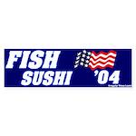Mock Fish Sushi Bumper Sticker