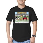 Cow Races Men's Fitted T-Shirt (dark)
