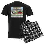 Cow Races Men's Dark Pajamas