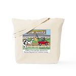 Cow Races Tote Bag