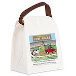 Cow Races Canvas Lunch Bag