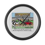 Cow Races Large Wall Clock