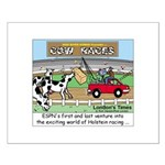 Cow Races Small Poster