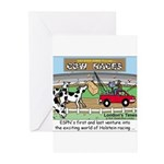 Cow Races Greeting Cards (Pk of 20)