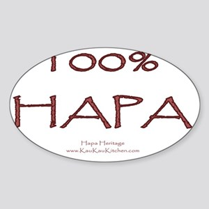 100% Hapa Sticker (Oval)