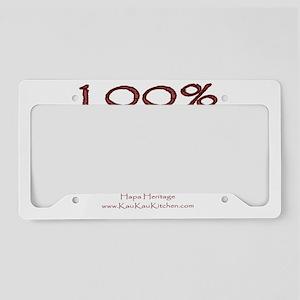 100% Hapa License Plate Holder