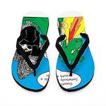Godzilla Breath Mint Flip Flops