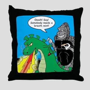 Godzilla Breath Mint Throw Pillow