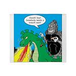 Godzilla Breath Mint Throw Blanket