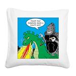 Godzilla Breath Mint Square Canvas Pillow
