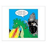 Godzilla Breath Mint Small Poster