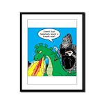 Godzilla Breath Mint Framed Panel Print