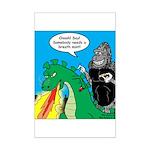 Godzilla Breath Mint Mini Poster Print