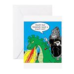Godzilla Breath Mint Greeting Cards (Pk of 10)