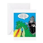 Godzilla Breath Mint Greeting Card