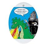 Godzilla Breath Mint Ornament (Oval)