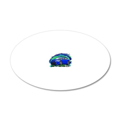 07-09 Speed3_Blue 20x12 Oval Wall Decal