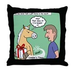 Gift Horse Throw Pillow