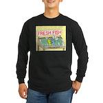 Fresh Fish Long Sleeve Dark T-Shirt