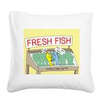 Fresh Fish Square Canvas Pillow