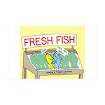 Fresh Fish 35x21 Wall Decal