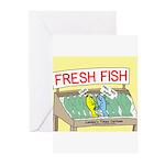 Fresh Fish Greeting Cards (Pk of 20)