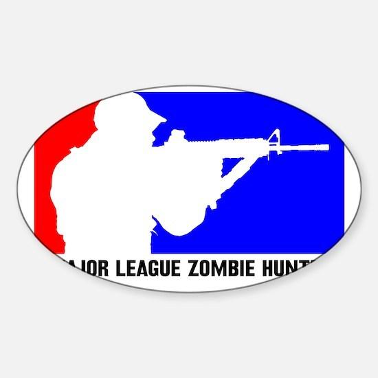 zombie hunter 3 Sticker (Oval)