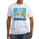 Fish Brain Food Fitted T-Shirt