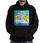Fish Brain Food Hoodie (dark)