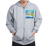 Fish Brain Food Zip Hoodie