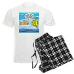 Fish Brain Food Men's Light Pajamas