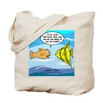 Fish Brain Food Tote Bag