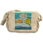 Fish Brain Food Messenger Bag