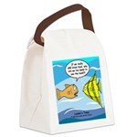 Fish Brain Food Canvas Lunch Bag