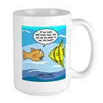 Fish Brain Food Large Mug