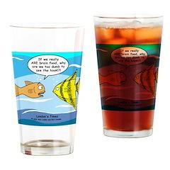 Fish Brain Food Drinking Glass
