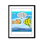 Fish Brain Food Framed Panel Print